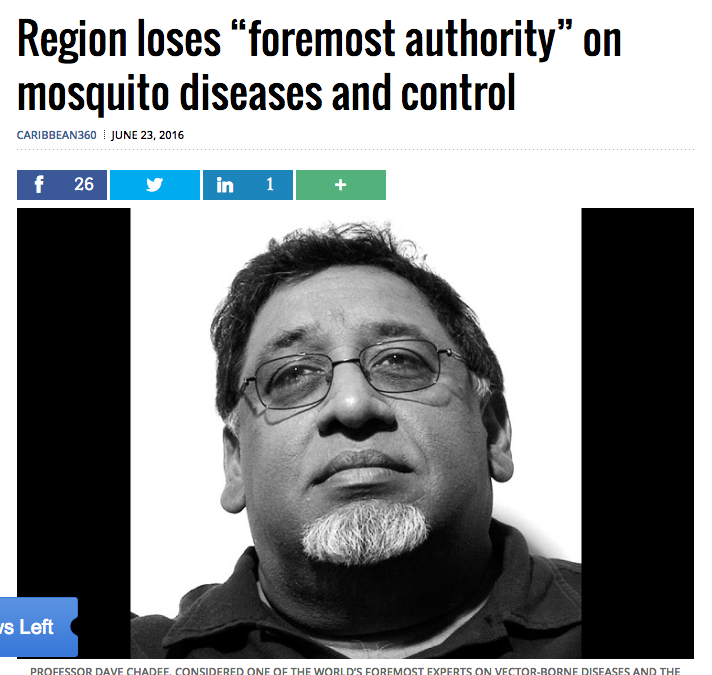 Caribbean mourns loss of great leader in Mosquito world